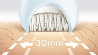 Extra wide epilator head