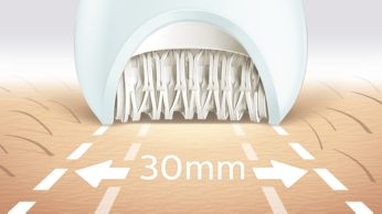 Широкая эпилирующая головка для оптимального удаления волосков за одно движение