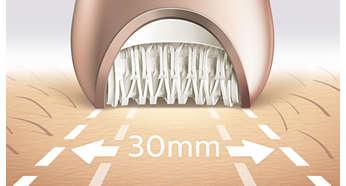 Tête ultra-large pour une élimination optimale des poils en un seul passage