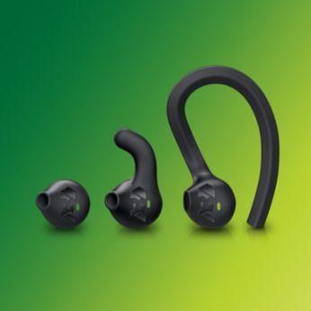 Kulak kancası, kanatçığı veya kulak içi aparat stilleriyle uyumu kişiselleştirin