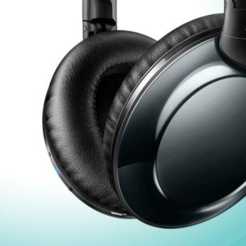 Kaldus pehmed kõrvapadjandid tagavad mugava pikaajalise kandmise