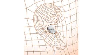 Ergonomiska öronsnäckor för en naturlig passform