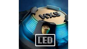 Kraftfulla LED-enheter synkroniseras till musiken