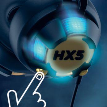 Управлявайте видимостта на музиката с LED бутон