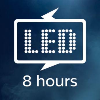 До 8 часа мощна LED светлина
