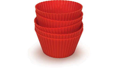 Cinque stampi per muffin in silicone di qualità Airfryer