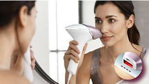Accessorio di precisione per il viso con filtro aggiuntivo