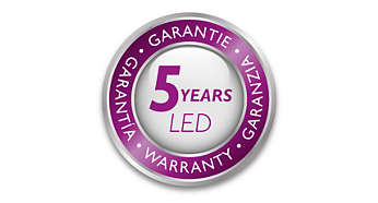 Philips offers a 5-year warranty on the LED module and driver