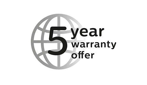 5 year warranty offer