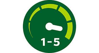 5Geschwindigkeitsstufen für bessere Kontrolle