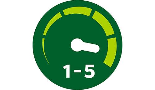 5nastavení rychlosti pro lepší ovládání