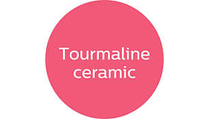 Tourmaline ceramic for ultimate smoothness and shine