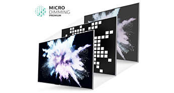 Pluripremiata tecnologia Micro Dimming Premium per un contrasto incredibile