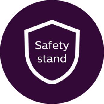 Безопасна поставка за лесна употреба