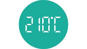 Tot 210 °C voor een perfect resultaat