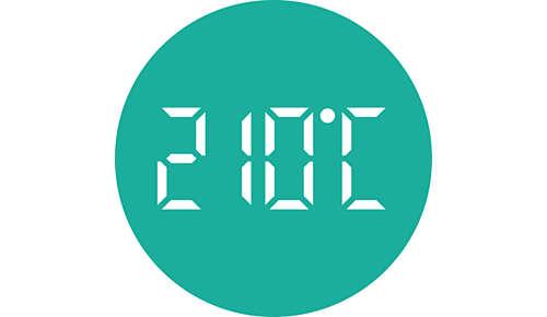 Ustawienia temp. do 210°C dla doskonałych rezultatów