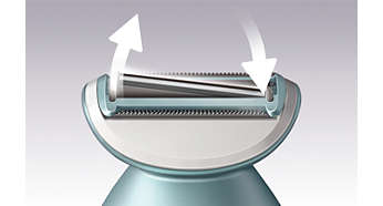 Floating foil provides a closer, more even shave
