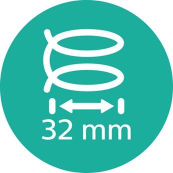 Голям цилиндър за меки къдрици, 32 мм