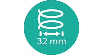 32 mm-es, nagy méretű henger a puha fürtökhöz