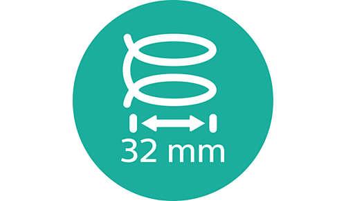 Stor 32 mm kolv för mjuka lockar