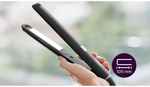 Piastre extra lunghe (105 mm) per lisciare i capelli in modo facile e veloce
