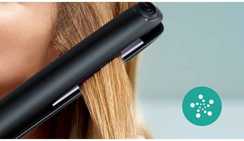Más cuidado gracias al ionizador y un pelo brillante y sin encrespado