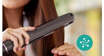 Повече грижа чрез подхранване с йони за лъскава и гладка коса