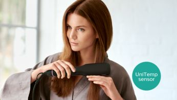 UniTemp sensor for beautifully styled hair with less heat