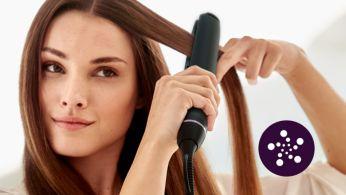 В 2раза более эффективная система ионизации для привлекательного блеска волос