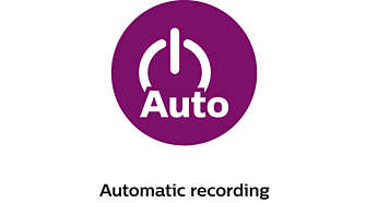 Automatic recording when you start your vehicle