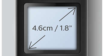 """Eenvoudig afleesbaar display van 4,6 cm (1,8"""") met witte achtergrondverlichting"""