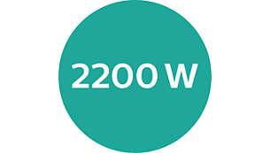 2.200W für schnelles, leistungsstarkes Trocknen