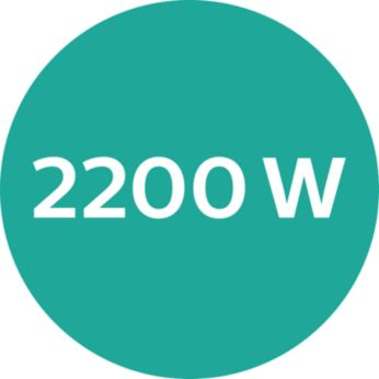 2200W of fast, high performance drying power