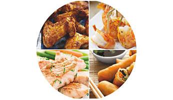 Piatti deliziosi: teneri all'interno, croccanti all'esterno