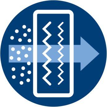 Усовершенствованный фильтр NanoProtect обеспечивает полноценную защиту