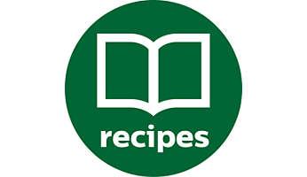 Oltre 200 ricette nell'applicazione gratuita e nel ricettario incluso