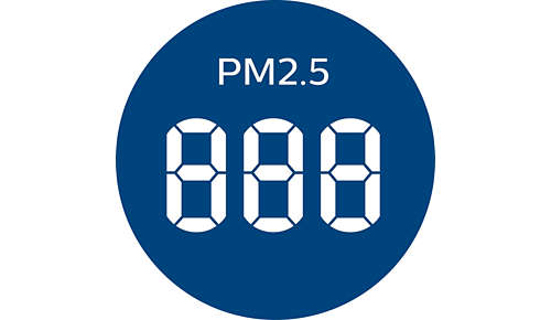 Real-time PM2.5 feedback and 4-colour AQI light
