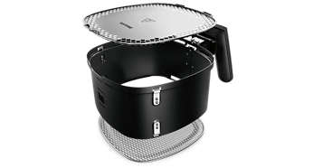 Easy clean in 90 secs- QuickClean basket with non-stick mesh