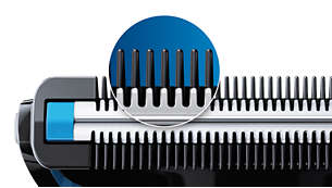 Skydda huden när du trimmar, ner till 0,5 mm