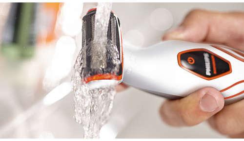 Eenvoudig te reinigen en ook te gebruiken onder de douche