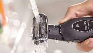 Fácil de limpar e usar tanto no duche como fora dele