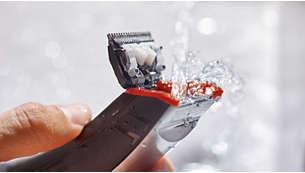 Facile da pulire e utilizzabile anche sotto la doccia