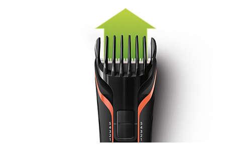 Inclut un sabot réglable qui coupe les poils de 3 à 11mm