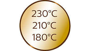 3Temperaturstufen und 3Timer-Einstellungen für unterschiedliche Haartypen
