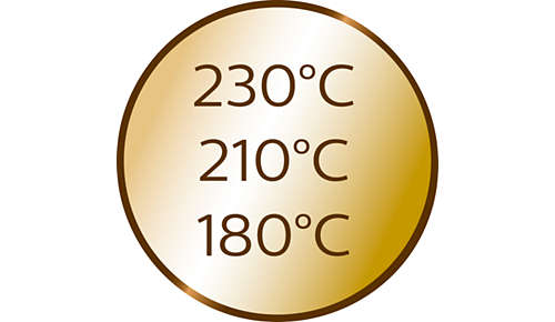 3 ustawienia temperatury i 3 ustawienia czasu do różnych typów włosów