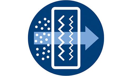 Filtr NanoProtect HEPA usuwa 99,97% cząsteczek o wielkości 0,3µm*