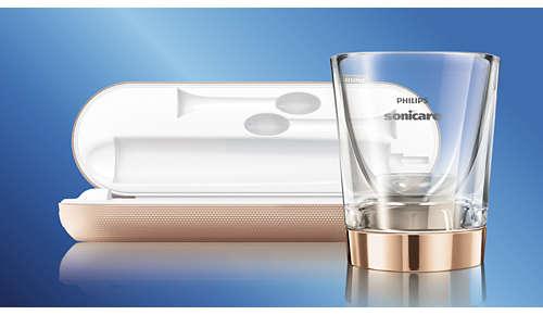 Dobbelt ladesystem: oppladende glass og reiseveske