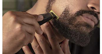Сбривает щетину