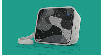 Splash-proof design ideal for outdoor use (IPX4)
