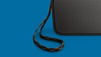 Carry it anywhere with the by-packed finely knitted strap